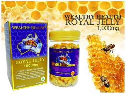 นมผึ้ง Royal Jelly Healthway Premium : Ausway Premium : Wealthy Health : Nature's king